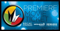 Regal Premiere Ticket Front Feb 2013
